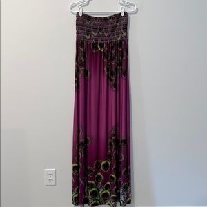 Forever21 Peacock Maxi Dress